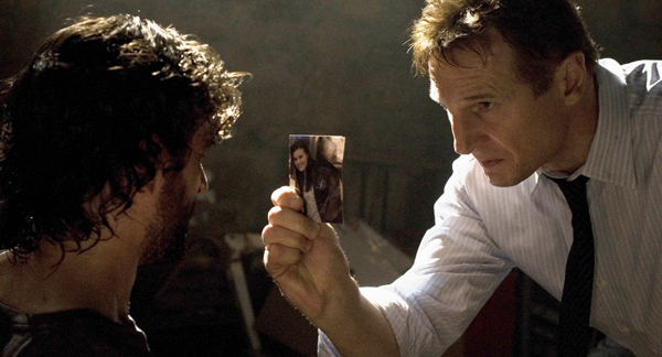 Bryan (Liam Neeson) prepares to take extreme measures during his interrogation of a man he suspects of being a key player in the kidnapping of BryanÕs daughter.